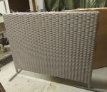 Välisermi, polyrottinki 4 kpl, 120 x 105 cm, avattu paketti