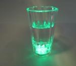 Vilkkuvat shottilasit, väri: vihreä, yhteensä 240 kpl, 1 ltk. Polykarbonaattia