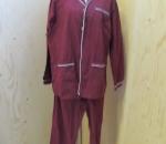 Miesten pyjama (puuvilla, joustovyötärö, nappikiinnitys), 2 väriä, eri kokoja,  40 kpl