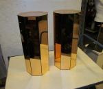 Kukkapilari / Pilari, peilipinnalla, 2 kpl, korkeus 60 cm, leveys 25,5 cm