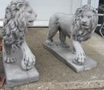 Leijona pari, betonipatsas, uusi