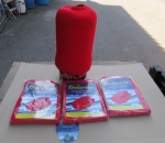 Leputtaja / fender, fendress suojapussit,  väri: punainen, 3 pkt = 6 kpl