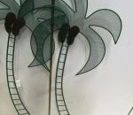 Kasvin tuki / pihakoriste, metallinen palmu, 60 kpl