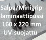 Elintarvikepakkauspussi / salpapussi / minigrip, 160 x 220 mm, UV suojattu , erä 2700 kpl