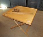Korona pöytä, 90 x 90 cm, kokoontaitettava