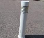 Bega pollarivalaisin, ulkovalaisin, korkeus n. 120 cm, valkoinen, käytetty