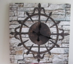 Sisustuskello, seinäkello, 70 x 70 cm, 8 kpl, 2 ltk
