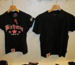 T-paita, mustavärinen, 2 erilaista mallia, yht. 33 kpl