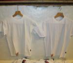 T-paita, valkoista väria, 2 erilaista materiaalia, yht. 36 kpl