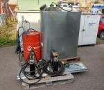Öljybaari järjestelmä, Nedermann öljykela ja mittari 2 kpl, jäteöljysäiliö valuma-altaalla, öljy pumppu