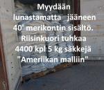 Riisihkuori tuhkaa 22.000 kg, RHA , 40' kontillinen