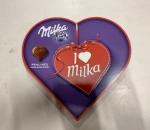Suklaakonvehti 'I Love Milka', hyvää lahja ystävänpäiväksi. 10 raisa