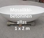 Allas betoni-kivisekoite, marmorimainen 1 kpl, Lohja