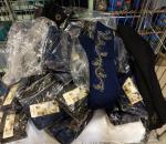 Leggings, 200 paria, koot L - XXL, värit sininen ja musta