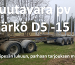 Puutavaraperävaunu Närko D5  -15