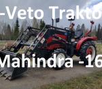 4-veto traktori Mahindra  JINMA-244E  vm. 2016 etukuormaajalla