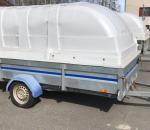 Kevytperävaunu  1-akselinen, kippaava, jarruton,  Thule  2300u,  750 kg,   WMA-141