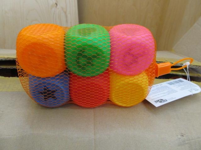 Muovinen lasten lelupalikka, 6 kpl setti (24 settiä), 144 kpl